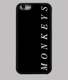 étui iphone 6, noir. singes arctiques