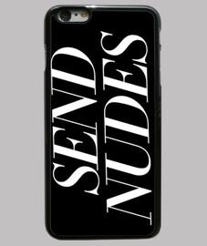étui iphone 6 plus, noir, envoi de nus