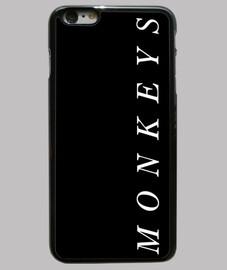 étui iphone 6 plus, noir, singes arctiques