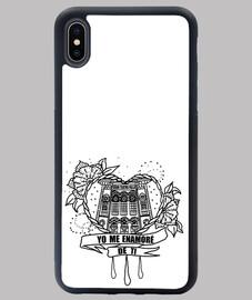 étui iphone xs max design coeur je tombe amoureux de toi noir