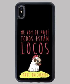 étui iphone xs max design licorne arre