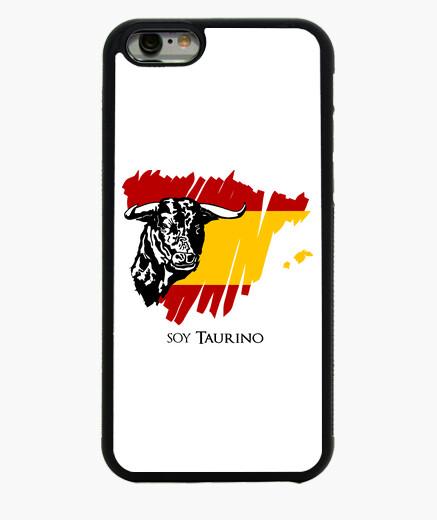 Coque Iphone 6 / 6S étui pour iphone 6 design original d'un taureau et drapeau d'espagne