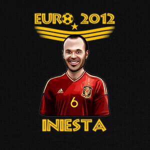 Camisetas Eurocopa 2012 Dibujo Andrés Iniesta