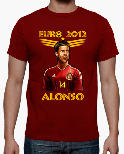 Camiseta Eurocopa 2012 Dibujo Xabi Alonso