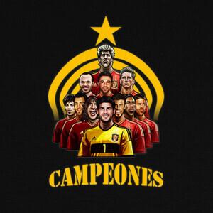 Camisetas Eurocopa 2012 españa campeones