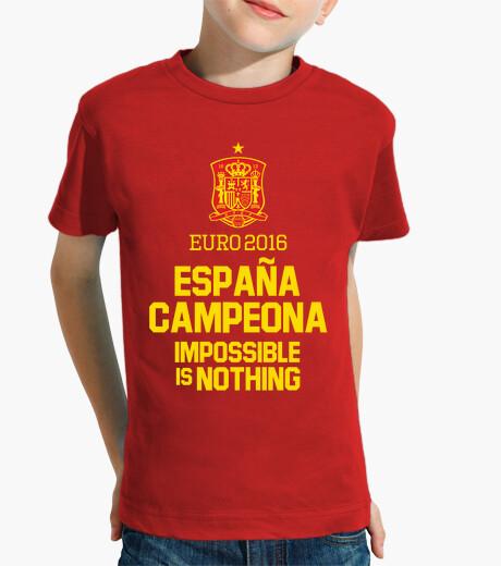 Ropa infantil Eurocopa 2016 España Campeona (Niño)