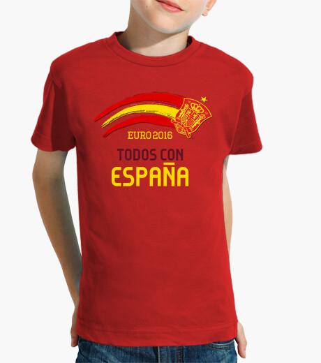 Ropa infantil Eurocopa 2016 Todos con España (Niño)