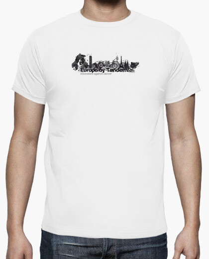 Camiseta europa en tandem negro km 4