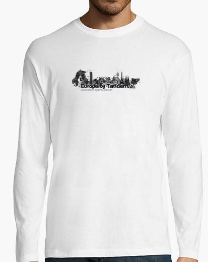 Europe in black tandem km 3 t-shirt