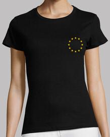 European Union Flag Logo. Twelve (12) Yellow Gold Stars in a Ring