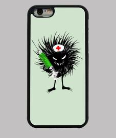 Evil Bug Nurse Character With Syringe