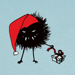 Evil Bug Unpacking Christmas Present T-shirts