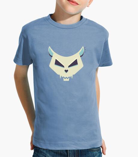 Evil Cartoon Cat Skull Kids Tee children's...