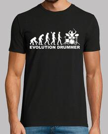 evolución del baterista