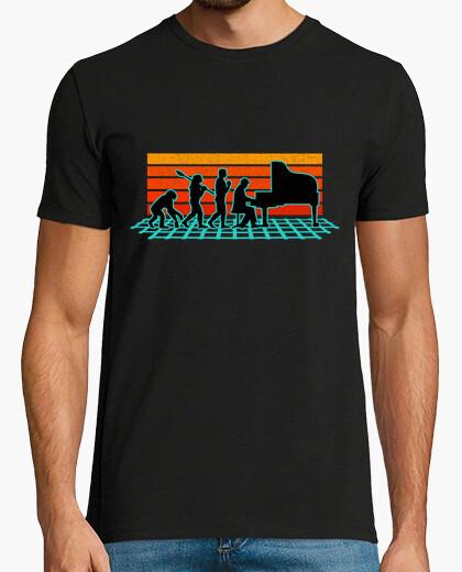 Camiseta Evolución del Músico Pianista...