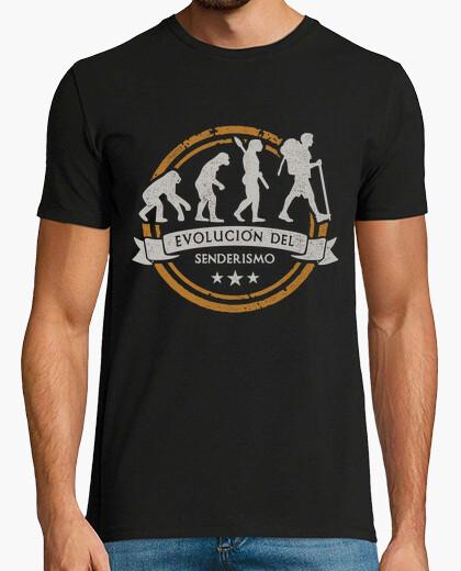 Camiseta Evolución del Senderismo o Trekking