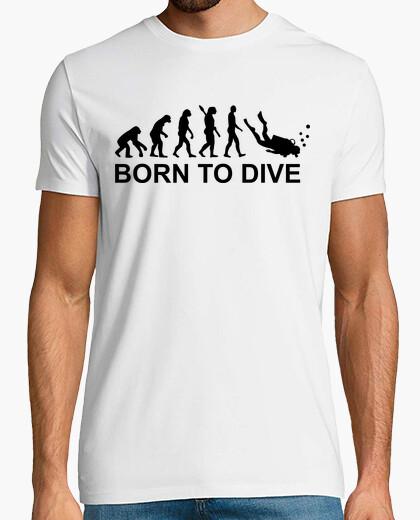 Camiseta evolución nacido a bucear buceo