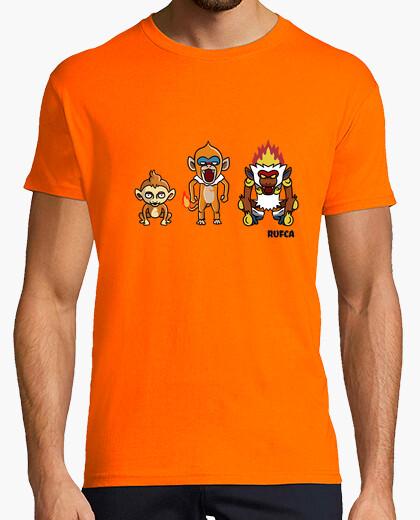 Camiseta evolucion pokemon infernape