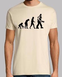 Evolucion Robot camisetas frikis friki cine tv Sheldom