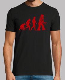 Evolucion Robot camisetas frikis friki Sheldom