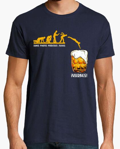 Camiseta Evolución Semana Viernes Cerveza
