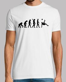 evolution fußball fahrradtritt