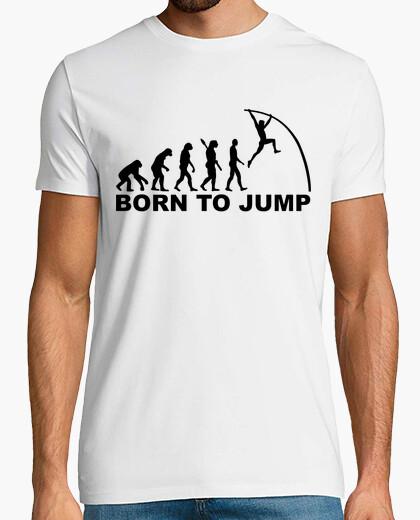 T-Shirt evolution geboren um stabhochsprung zu springen