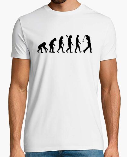 Evolution golf player t-shirt