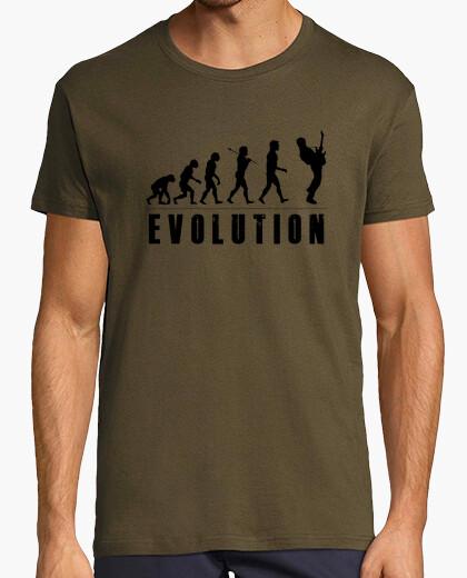 Camiseta Evolution Guitarrista 1 Negro