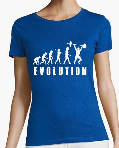 Camiseta Evolution Halterofilia Blanco