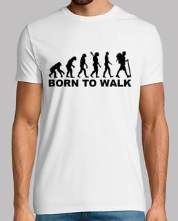 evolution hiking né à marcher