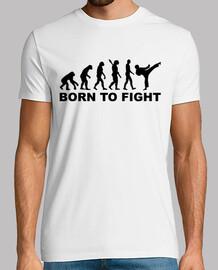 évolution karaté né pour combattre