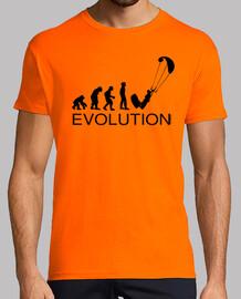 evolution kite surfing man
