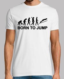 évolution né de sauter le saut à ski