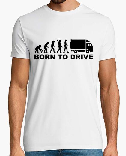 Tee-shirt évolution né pour conduire un camion