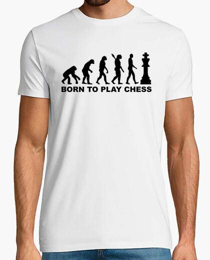 Tee-shirt évolution né pour jouer aux échecs