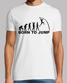 évolution né pour sauter saut à la perche