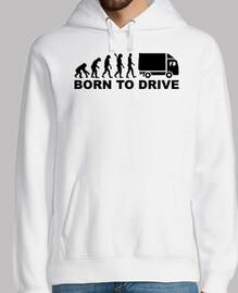 évolution née pour conduire le camion