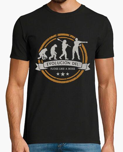Evolution of the floss like a boss man t-shirt