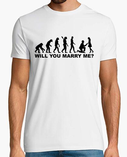Tee-shirt évolution proposition de mariage de mariage