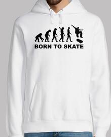 évolution skateboard né pour patiner