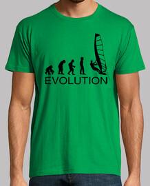 evolution wind surfing man