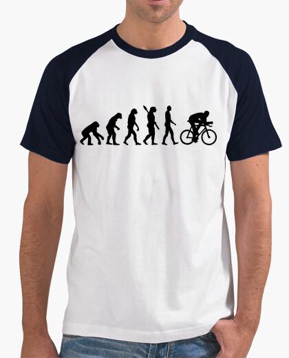 T-shirt evoluzione ciclismo bicicletta