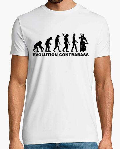 T-shirt evoluzione contrabbasso