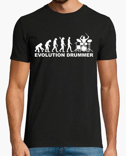 T-shirt evoluzione del batterista