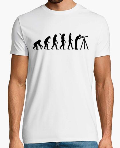 T-shirt evoluzione del telescopio astronomico