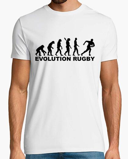 T-shirt evoluzione di rugby