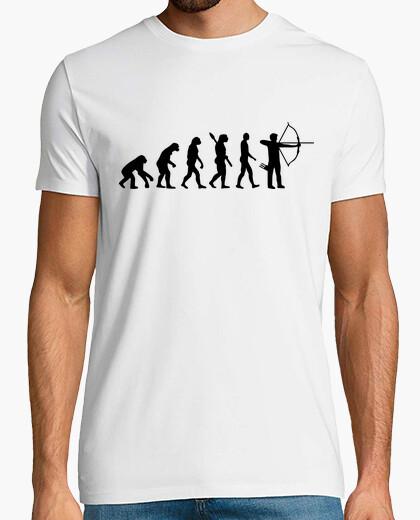 T-shirt evoluzione tiro con l'arco
