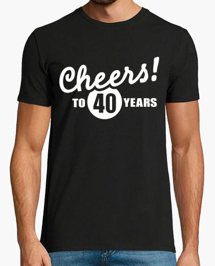T-shirt evviva al compleanno di 40 anni