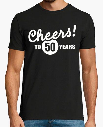 T-shirt evviva al compleanno di 50 anni